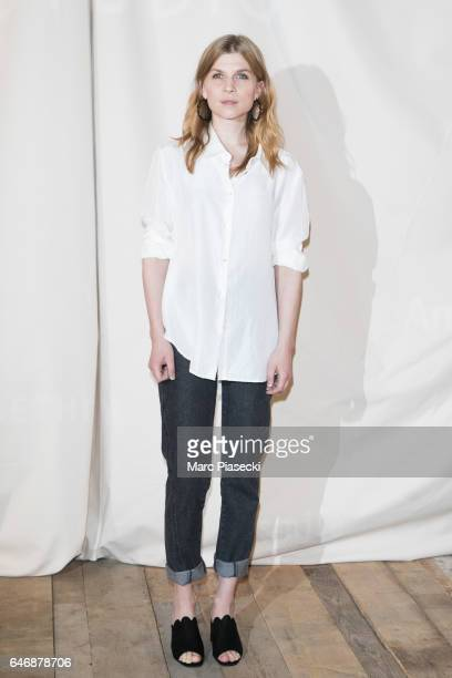 Actress Clemence Poesy attends the HM Studio show as part of the Paris Fashion Week on March 1 2017 in Paris France