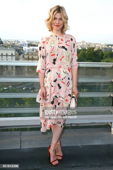 Actress Clemence Poesy attends the launching of Chloe new Perfume 'Love Story' Held at Institut du Monde Arabe on July 2 2014 in Paris France
