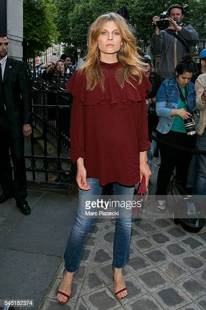 Actress Clemence Poesy attends the Vogue Foundation Gala 2016 at Palais Galliera on July 5 2016 in Paris France