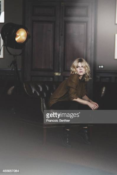 Actress Clemence Poesy is photographed for Self Assignment on September 9 2014 in Paris France