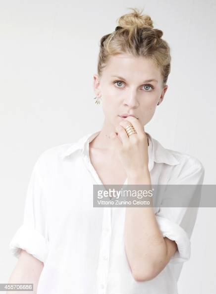 Actress Clemence Poesy is photographed on September 1 2014 in Venice Italy