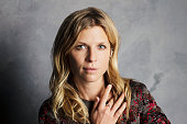 Actress Clemence Poesy of 'The Ones Below' is photographed for Los Angeles Times on September 25 2015 in Toronto Ontario PUBLISHED IMAGE CREDIT MUST...
