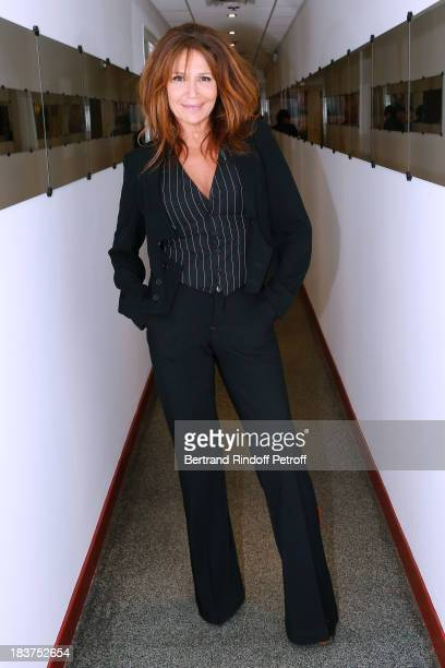 Actress Clementine Celarie attends 'Vivement Dimanche' French TV Show held at Pavillon Gabriel in Paris at Pavillon Gabriel on October 9 2013 in...