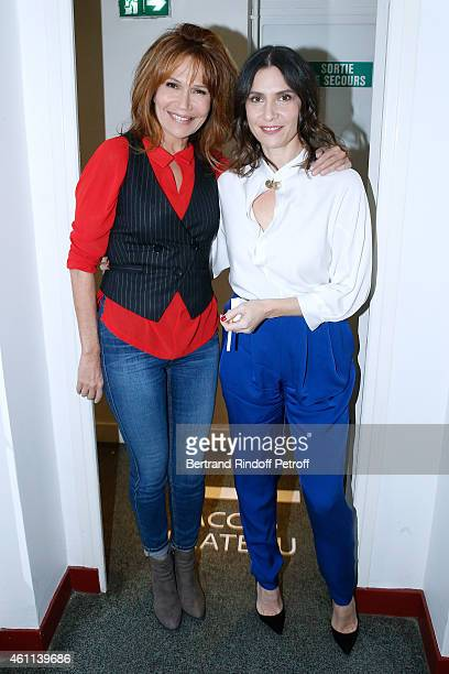 Actress Clementine Celarie presents the TV Series 'Accuse' and Actress Geraldine Pailhas presents the movie 'Disparue en hiver' during the 'Vivement...