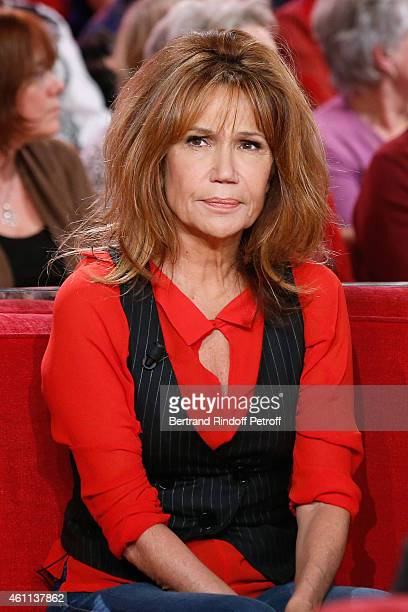 Actress Clementine Celarie presents the TV Series 'Accuse' during the 'Vivement Dimanche' French TV Show at Pavillon Gabriel on January 7 2015 in...