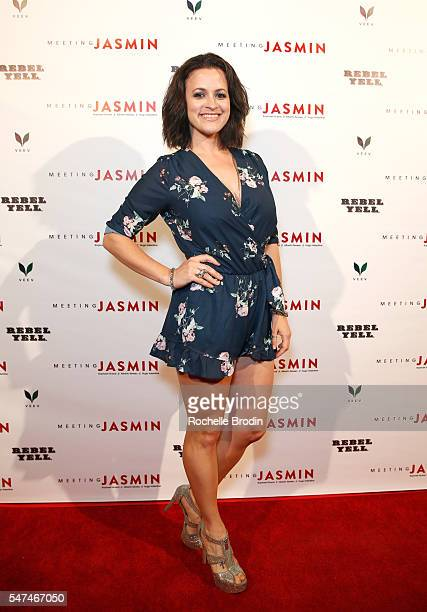 Actress Clementine Heath attends Meeting JASMIN Fine Art Exhibition at Ace Gallery on July 14 2016 in Los Angeles California