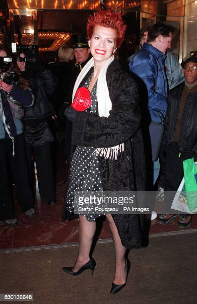 Actress Cleo Rocos arriving at a Valentine's Ball at the Hilton Hotel in London to raise money for the Rhys Daniels Trust Rhys died from the...