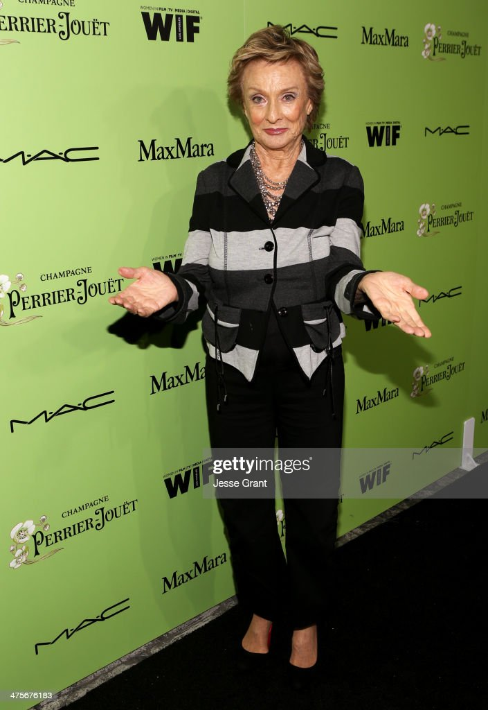 Actress <a gi-track='captionPersonalityLinkClicked' href=/galleries/search?phrase=Cloris+Leachman&family=editorial&specificpeople=204686 ng-click='$event.stopPropagation()'>Cloris Leachman</a> attends the Women In Film Pre-Oscar Cocktail Party presented by Perrier-Jouet, MAC Cosmetics & MaxMara at Fig & Olive Melrose Place on February 28, 2014 in West Hollywood, California.