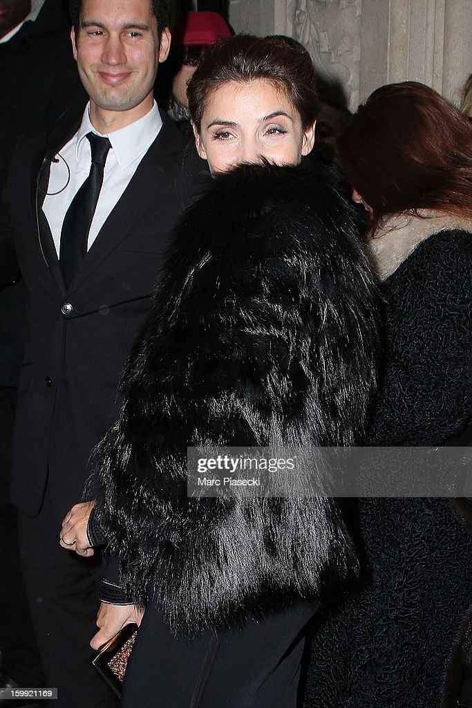Actress Clotilde Courau arrives to attend the Elie Saab Spring/Summer 2013 Haute-Couture show as part of Paris Fashion Week at Pavillon Cambon Capucines on January 23, 2013 in Paris, France.