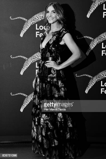 Actress Clotilde Courau attends a photocall during the 70th Locarno Film Festival on August 5 2017 in Locarno Switzerland
