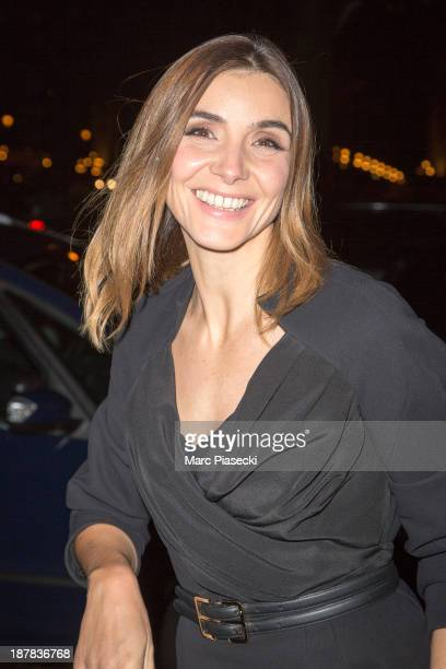 Actress Clotilde Courau attends the 'Esprit Dior Miss Dior' exhibition opening at Grand Palais on November 12 2013 in Paris France