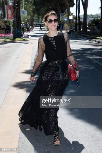 Actress Clotilde Courau is spotted during the 70th annual Cannes Film Festival at on May 19 2017 in Cannes France