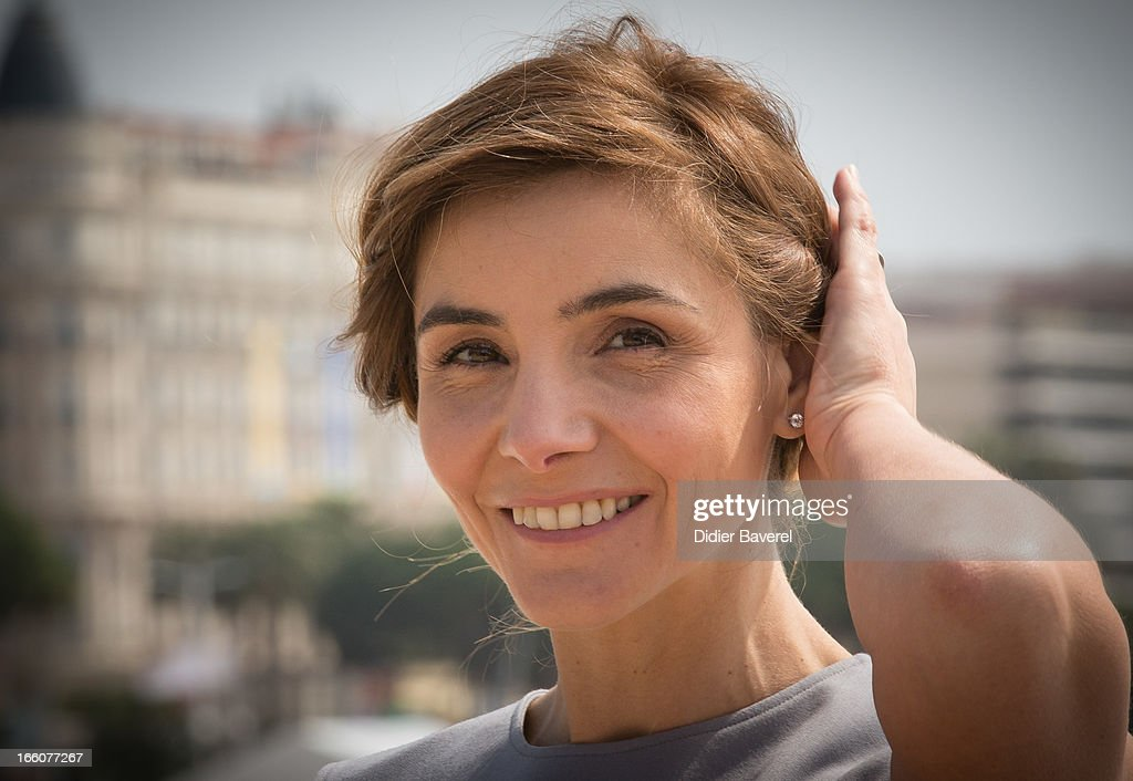 Actress <a gi-track='captionPersonalityLinkClicked' href=/galleries/search?phrase=Clotilde+Courau&family=editorial&specificpeople=171279 ng-click='$event.stopPropagation()'>Clotilde Courau</a> poses during a photocall for the tv series'La Source' at MIP TV 2013 on April 8, 2013 in Cannes, France.