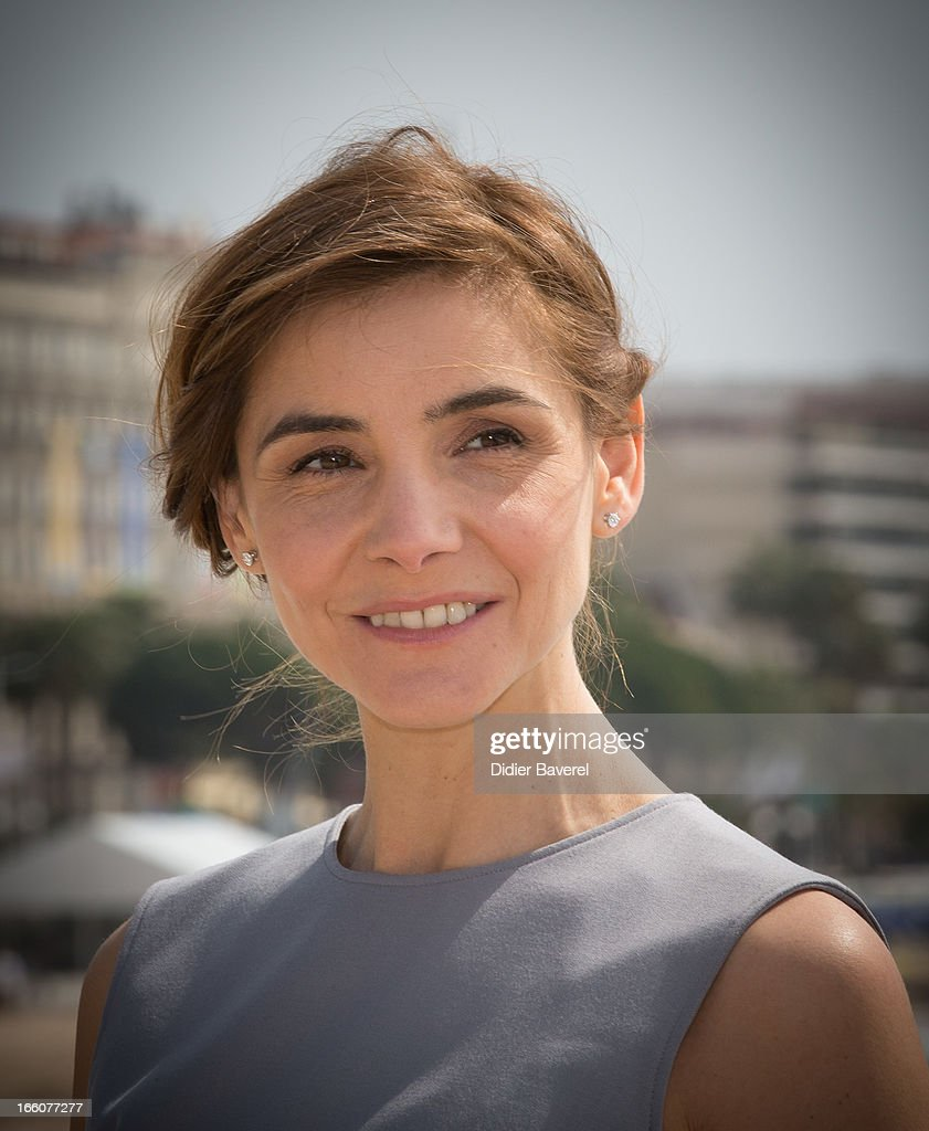 Actress Clotilde Courau poses during a photocall for the tv series'La Source' at MIP TV 2013 on April 8, 2013 in Cannes, France.
