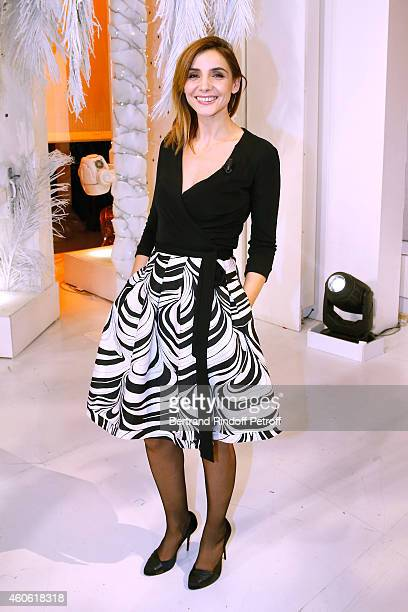 Actress Clotilde Courau Princess of Savoy presents the theater piece 'Piaf l'etre intime' during the 'Vivement Dimanche' French TV Show at Pavillon...