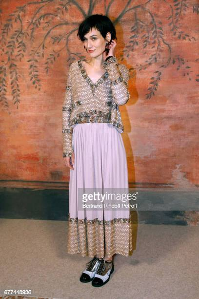 Actress Clotilde Hesme attends the Chanel Cruise 2017/2018 Collection Show Photocall Held at Grand Palais on May 3 2017 in Paris France