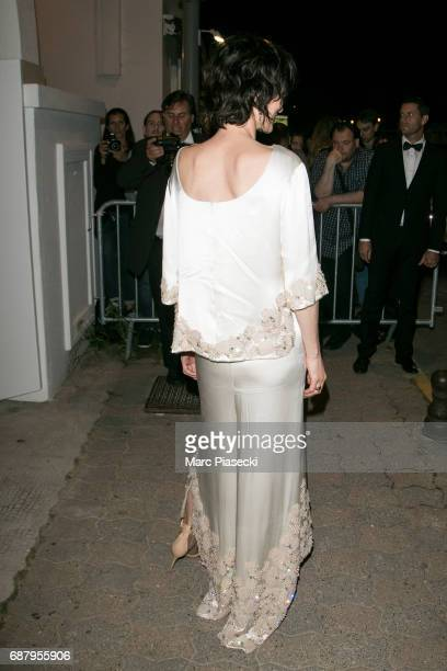 Actress Clotilde Hesme is seen during the 70th annual Cannes Film Festival at the 'Vanity Fair CHANEL' dinner at Tetou restaurant on May 24 2017 in...
