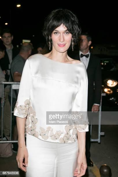 Actress Clotilde Hesme is spotted during the 70th annual Cannes Film Festival at the 'Vanity Fair CHANEL' dinner at Tetou restaurant on May 24 2017...