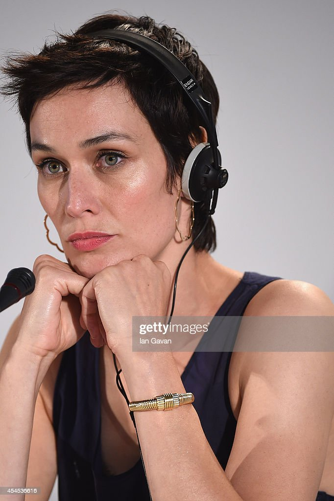 Actress Clotilde Hesme wearing a Jaeger-LeCoultre watch attends the 'Le dernier coup de marteau' press conference before the photocall during the 71st Venice Film Festival at the Palazzo del Casino on September 3, 2014 in Venice, Italy.