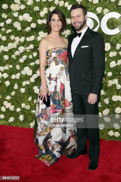 Actress Cobie Smulders and Taran Killam attend the 71st Annual Tony Awards at Radio City Music Hall on June 11 2017 in New York City