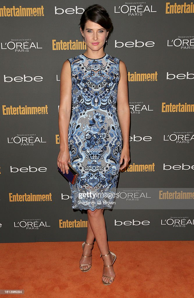 Actress <a gi-track='captionPersonalityLinkClicked' href=/galleries/search?phrase=Cobie+Smulders&family=editorial&specificpeople=739940 ng-click='$event.stopPropagation()'>Cobie Smulders</a> arrives at Entertainment Weekly's Pre-Emmy Party at Fig & Olive Melrose Place on September 20, 2013 in West Hollywood, California.
