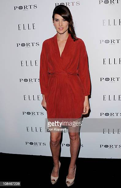 Actress Cobie Smulders arrives at the ELLE Women In Television Event at Soho House on January 27 2011 in West Hollywood California