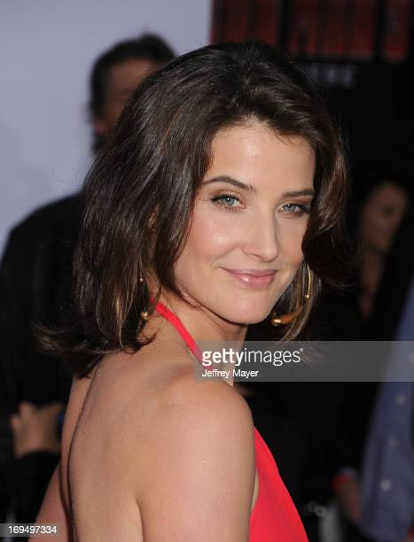 Actress Cobie Smulders arrives at the Los Angeles Premiere of 'Iron Man 3' at the El Capitan Theatre on April 24 2013 in Hollywood California
