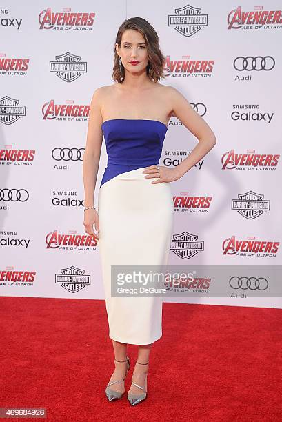 Actress Cobie Smulders arrives at the Los Angeles premiere of Marvel's 'Avengers Age Of Ultron' at Dolby Theatre on April 13 2015 in Hollywood...