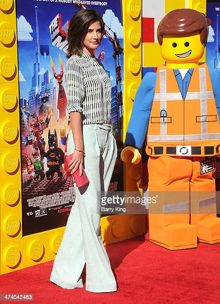 Actress Cobie Smulders arrives at the Los Angeles premiere of 'The Lego Movie' held on February 1 2014 at Regency Village Theatre in Westwood...