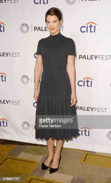 Actress Cobie Smulders arrives at The Paley Center For Media's PaleyFest 2014 Honoring 'How I Met Your Mother' Series Farewell at Dolby Theatre on...