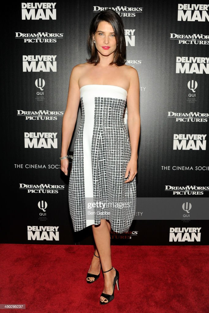 Actress <a gi-track='captionPersonalityLinkClicked' href=/galleries/search?phrase=Cobie+Smulders&family=editorial&specificpeople=739940 ng-click='$event.stopPropagation()'>Cobie Smulders</a> attends DreamWorks Pictures & The Cinema Society host a screening of 'Delivery Man' at the Paley Center For Media on November 17, 2013 in New York City.