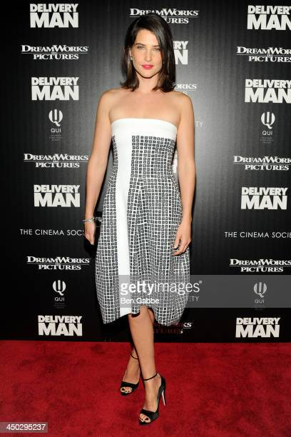 Actress Cobie Smulders attends DreamWorks Pictures The Cinema Society host a screening of 'Delivery Man' at the Paley Center For Media on November 17...
