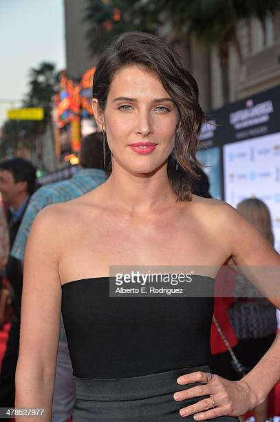 Actress Cobie Smulders attends Marvel's 'Captain America The Winter Soldier' premiere at the El Capitan Theatre on March 13 2014 in Hollywood...