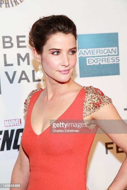 Actress Cobie Smulders attends 'Marvel's The Avengers' premiere during the closing night of the 2012 Tribeca Film Festival at BMCC Tribeca PAC on...