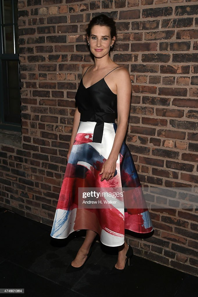 Actress <a gi-track='captionPersonalityLinkClicked' href=/galleries/search?phrase=Cobie+Smulders&family=editorial&specificpeople=739940 ng-click='$event.stopPropagation()'>Cobie Smulders</a> attends the after party for Magnolia Pictures' 'Results' premiere hosted by The Cinema Society with Women's Health and FIJI Water at STK Rooftop on May 27, 2015 in New York City.