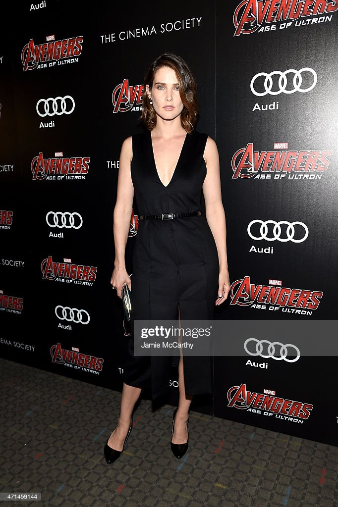Actress Cobie Smulders attends The Cinema Society Audi screening of Marvel's 'Avengers Age of Ultron' at SVA Theater on April 28 2015 in New York City