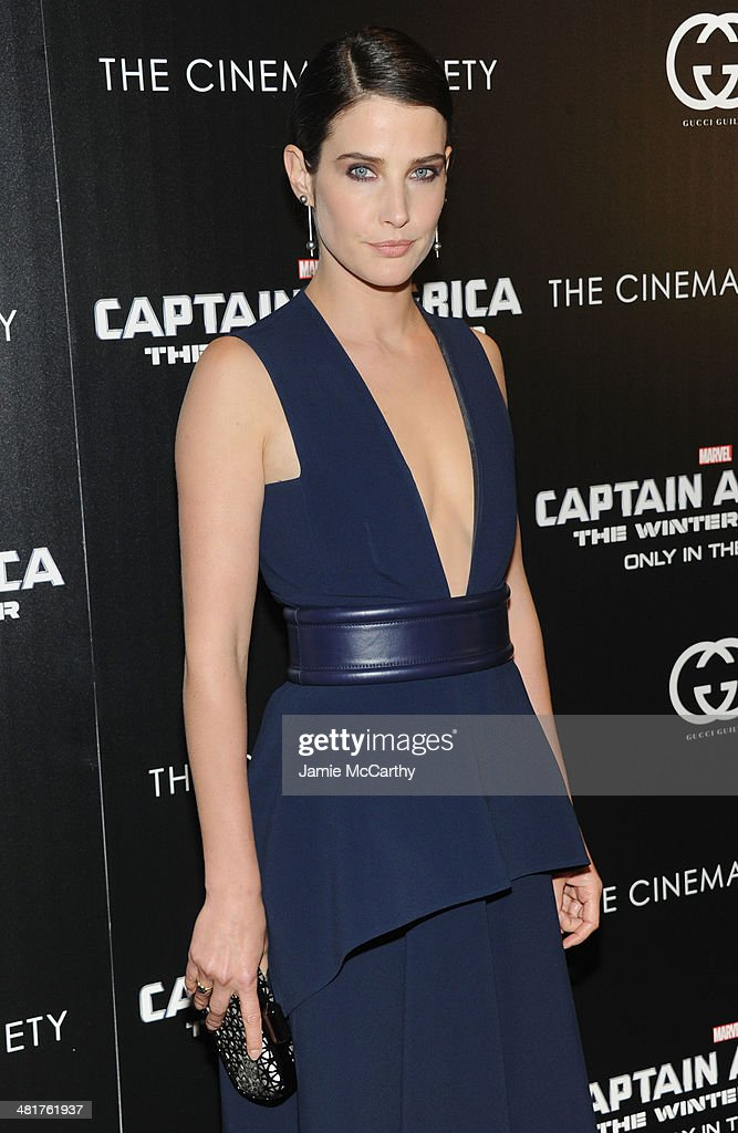 Actress Cobie Smulders attends The Cinema Society & Gucci Guilty screening of Marvel's 'Captain America: The Winter Soldier' at Tribeca Grand Hotel on March 31, 2014 in New York City.
