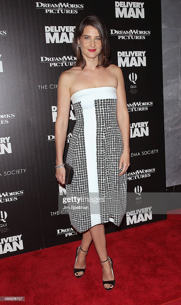Actress <a gi-track='captionPersonalityLinkClicked' href=/galleries/search?phrase=Cobie+Smulders&family=editorial&specificpeople=739940 ng-click='$event.stopPropagation()'>Cobie Smulders</a> attends the DreamWorks Pictures and The Cinema Society screening of 'Delivery Man' at Paley Center For Media on November 17, 2013 in New York City.