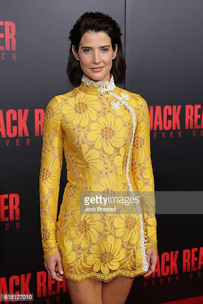 Actress Cobie Smulders attends the fan screening of the Paramount Pictures title 'Jack Reacher Never Go Back' on October 16 2016 at the AMC Elmwood...