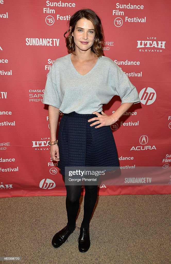 Actress <a gi-track='captionPersonalityLinkClicked' href=/galleries/search?phrase=Cobie+Smulders&family=editorial&specificpeople=739940 ng-click='$event.stopPropagation()'>Cobie Smulders</a> attends the 'Results' Premiere during the 2015 Sundance Film Festival at the Eccles Center Theatre on January 27, 2015 in Park City, Utah.