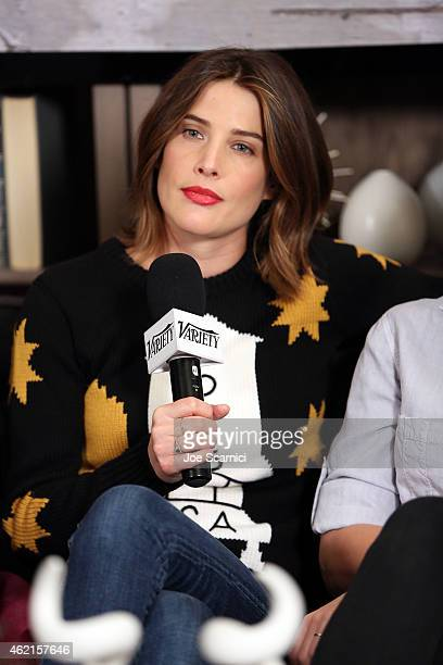 Actress Cobie Smulders attends the The Variety Studio At Sundance Presented By Dockers on January 25 2015 in Park City Utah