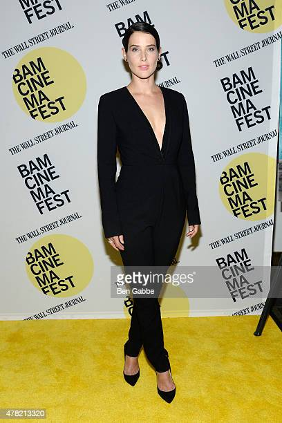 Actress Cobie Smulders attends the 'Unexpected' premiere during BAMcinemaFest 2015 at the BAM Peter Jay Sharp Building on June 23 2015 in New York...