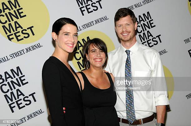 Actress Cobie Smulders director Kris Swanberg and actor Anders Holm attend the 'Unexpected' Premiere BAMcinemaFest 2015 at BAM Peter Jay Sharp...