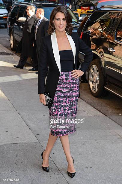 Actress Cobie Smulders enters the 'Late Show With David Letterman' taping at the Ed Sullivan Theater on March 31 2014 in New York City