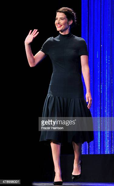 Actress Cobie Smulders on stage at The Paley Center For Media's PaleyFest 2014 Honoring 'How I Met Your Mother' Series Farewell at Dolby Theatre on...