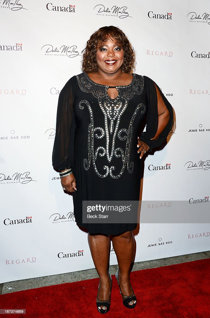 Actress Coco Brown arrives at Canadian Consul General honors fashion designer Dalia MacPhee on November 7, 2013 in Los Angeles, California.