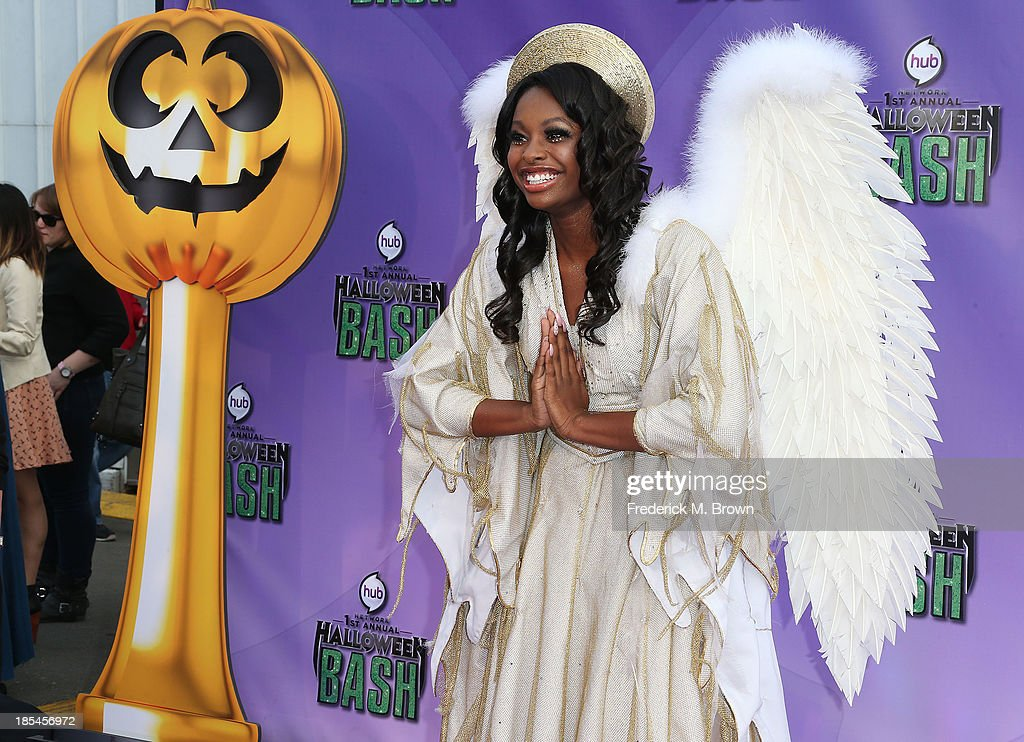 Actress Coco Jones attends Hub Network's First Annual Halloween Bash in Barker Hangar at the Santa Monica Airport on October 20, 2013 in Santa Monica, California.