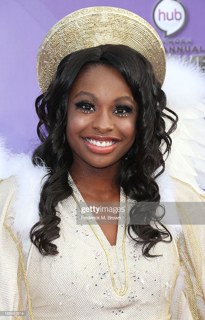 Actress <a gi-track='captionPersonalityLinkClicked' href=/galleries/search?phrase=Coco+Jones&family=editorial&specificpeople=4684153 ng-click='$event.stopPropagation()'>Coco Jones</a> attends Hub Network's First Annual Halloween Bash in Barker Hangar at the Santa Monica Airport on October 20, 2013 in Santa Monica, California.