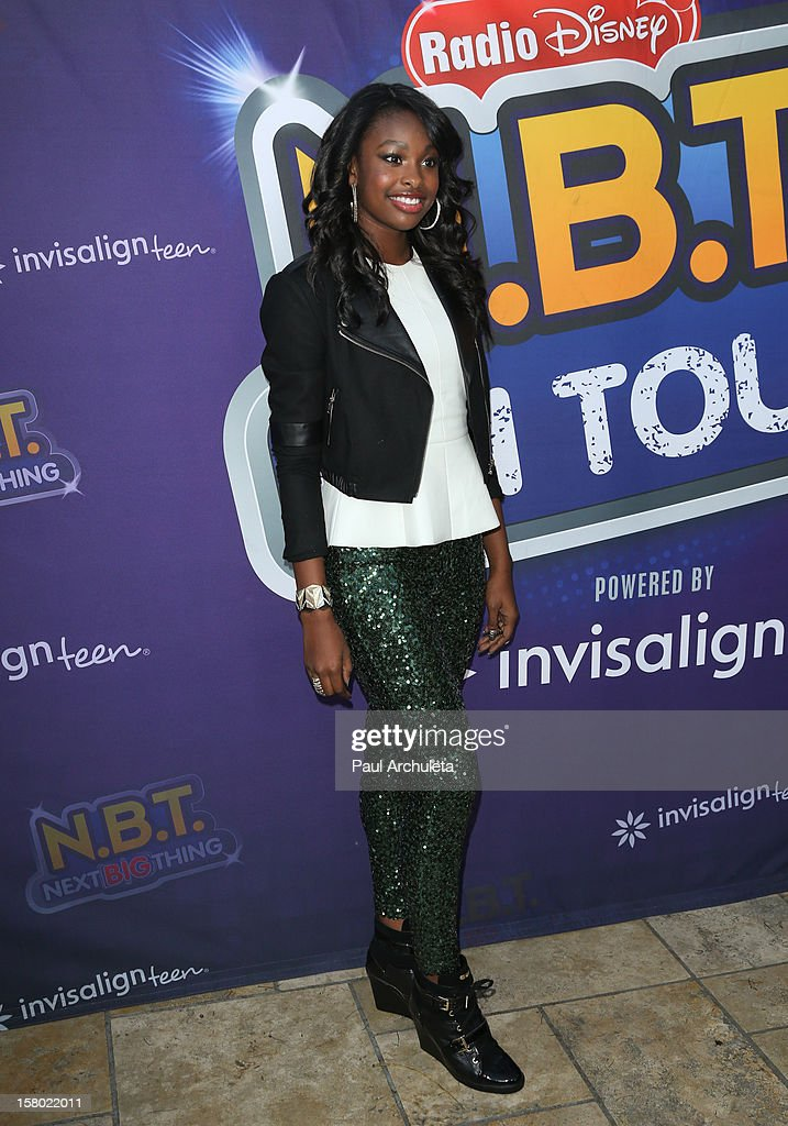 Actress Coco Jones attends the Radio Disney's 'N.B.T.' (Next BIG Thing) season five winner announcements at The Americana at Brand on December 8, 2012 in Glendale, California.