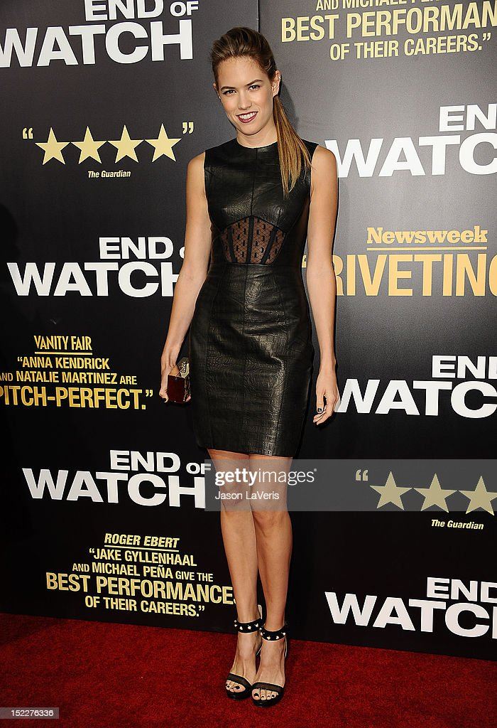 Actress Cody Horn attends the premiere of 'End of Watch' at Regal Cinemas L.A. Live on September 17, 2012 in Los Angeles, California.